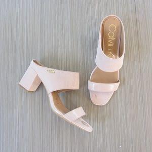 Calvin Klein Pink Cirella Chunky Mule Sandals